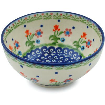 Polish Pottery 5-inch Bowl | Boleslawiec Stoneware | Polmedia H0030I