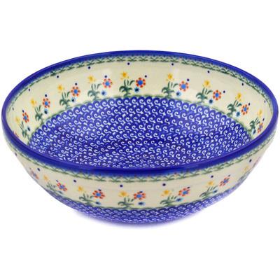 Polish Pottery 11-inch Bowl | Boleslawiec Stoneware | Polmedia H3510E