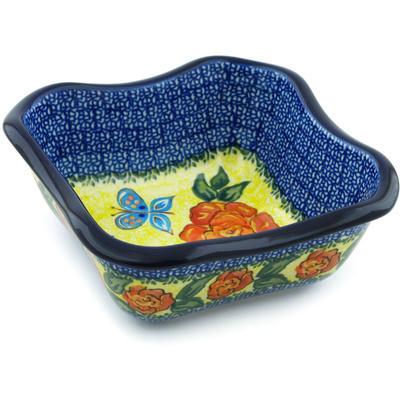 Polish Pottery 7-inch Bowl | Boleslawiec Stoneware | Polmedia H4853H