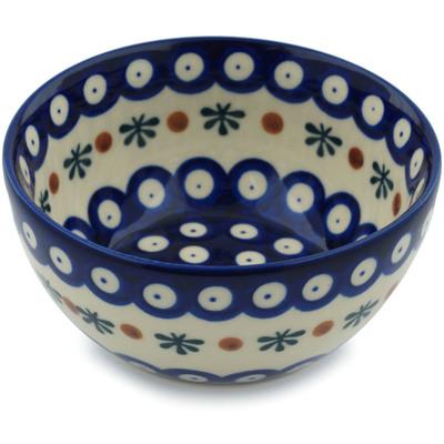 Polish Pottery 5-inch Bowl   Boleslawiec Stoneware   Polmedia H9534H
