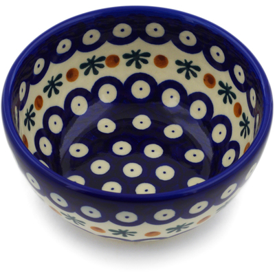 Polish Pottery 5-inch Bowl | Boleslawiec Stoneware | Polmedia H3517E