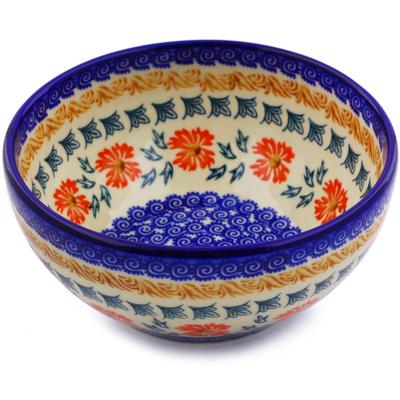 Polish Pottery 6-inch Bowl | Boleslawiec Stoneware | Polmedia H7271I