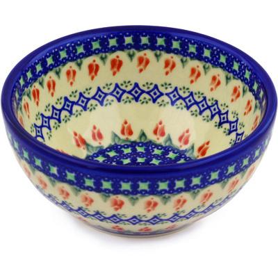 Polish Pottery 6-inch Bowl | Boleslawiec Stoneware | Polmedia H9296F