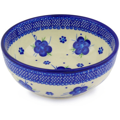 Polish Pottery 7-inch Bowl | Boleslawiec Stoneware | Polmedia H6529F