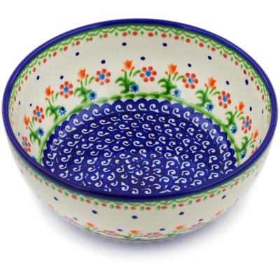 Polish Pottery 7-inch Bowl | Boleslawiec Stoneware | Polmedia H0409C