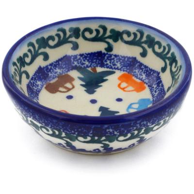 Polish Pottery 3-inch Bowl   Boleslawiec Stoneware   Polmedia H8786E