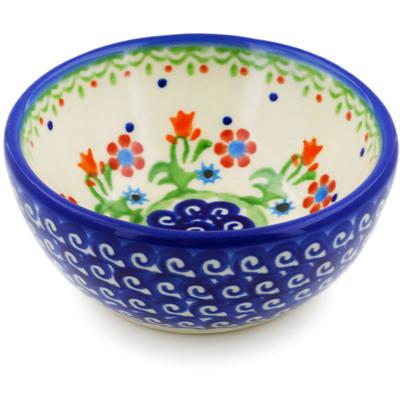 Polish Pottery 4-inch Bowl | Boleslawiec Stoneware | Polmedia H3717E