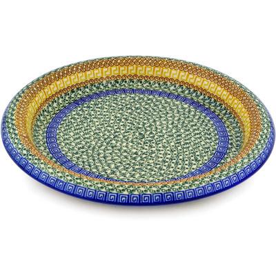 Polish Pottery 13-inch Bowl | Boleslawiec Stoneware | Polmedia H1443D