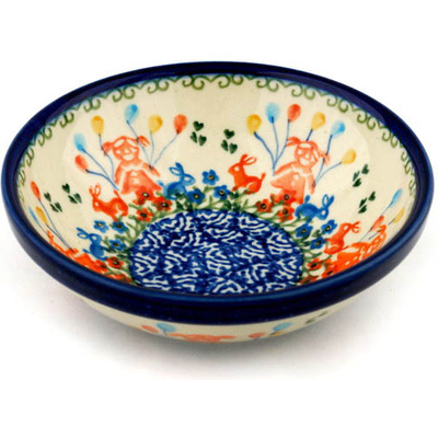 Polish Pottery 6-inch Bowl | Boleslawiec Stoneware | Polmedia H1338B