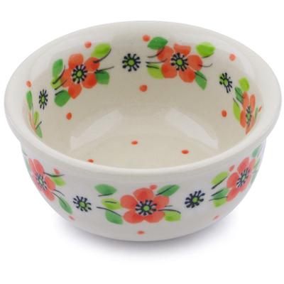 Polish Pottery 3-inch Bowl   Boleslawiec Stoneware   Polmedia H0857J