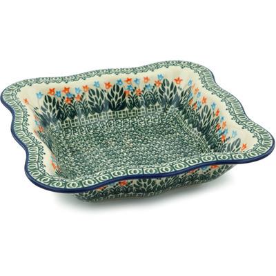 Polish Pottery 11-inch Bowl | Boleslawiec Stoneware | Polmedia H4800B