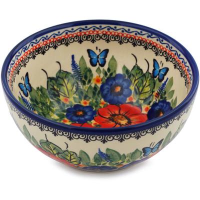 Polish Pottery 6-inch Bowl   Boleslawiec Stoneware   Polmedia H6217I