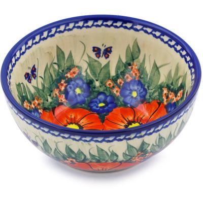 Polish Pottery 6-inch Bowl | Boleslawiec Stoneware | Polmedia H1441J