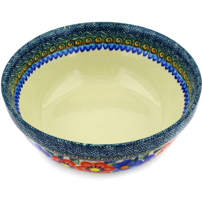 Polish Pottery 6-inch Bowl | Boleslawiec Stoneware | Polmedia H7395A
