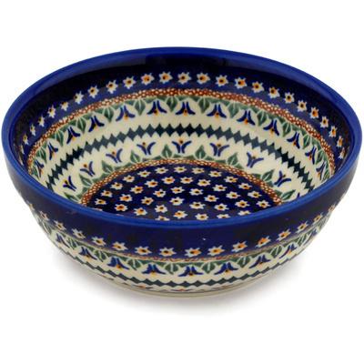 Polish Pottery 7-inch Bowl | Boleslawiec Stoneware | Polmedia H0408B