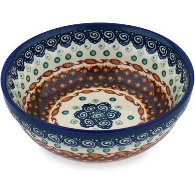 Polish Pottery 7-inch Bowl   Boleslawiec Stoneware   Polmedia H4459C