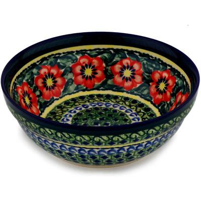 Polish Pottery 7-inch Bowl | Boleslawiec Stoneware | Polmedia H9676C