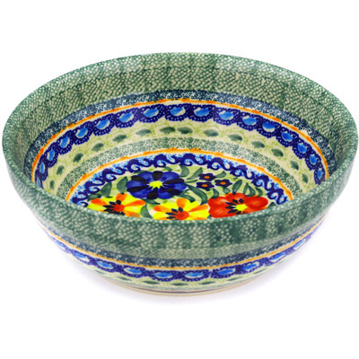 Polish Pottery 7-inch Bowl | Boleslawiec Stoneware | Polmedia H9707D