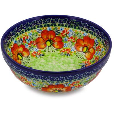 Polish Pottery 7-inch Bowl | Boleslawiec Stoneware | Polmedia H4282I