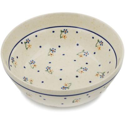 Polish Pottery 7-inch Bowl | Boleslawiec Stoneware | Polmedia H7590A