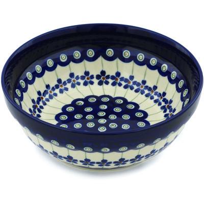 Polish Pottery 7-inch Bowl | Boleslawiec Stoneware | Polmedia H2019B