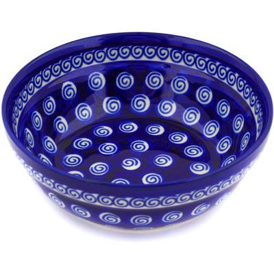 Polish Pottery 7-inch Bowl   Boleslawiec Stoneware   Polmedia H9340D