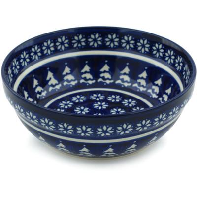 Polish Pottery 7-inch Bowl | Boleslawiec Stoneware | Polmedia H0032E