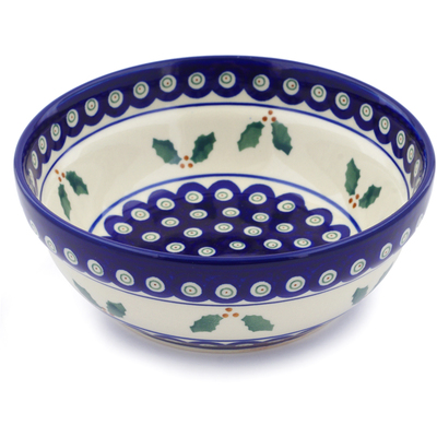 Polish Pottery 7-inch Bowl | Boleslawiec Stoneware | Polmedia H9720I