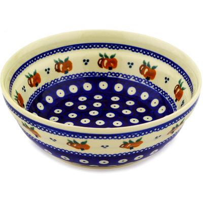 Polish Pottery 7-inch Bowl | Boleslawiec Stoneware | Polmedia H2382D