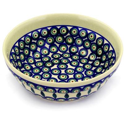 Polish Pottery 7-inch Bowl | Boleslawiec Stoneware | Polmedia H3540D