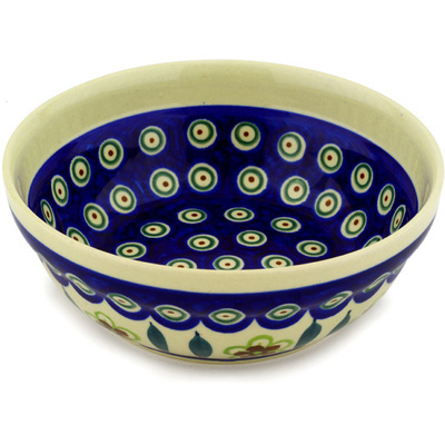 Polish Pottery 7-inch Bowl | Boleslawiec Stoneware | Polmedia H0354D