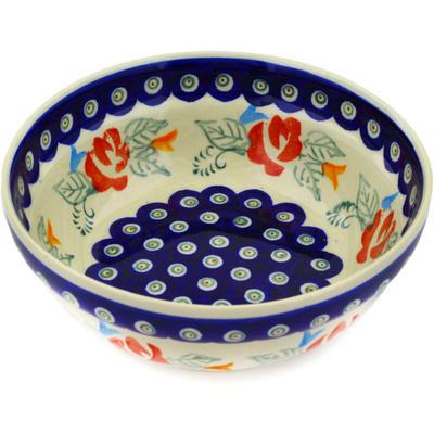 Polish Pottery 7-inch Bowl | Boleslawiec Stoneware | Polmedia H2584E