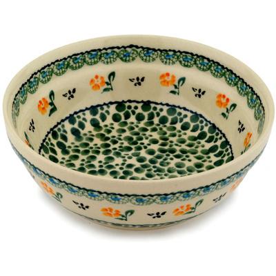 Polish Pottery 7-inch Bowl | Boleslawiec Stoneware | Polmedia H0355D