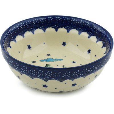 Polish Pottery 7-inch Bowl | Boleslawiec Stoneware | Polmedia H4345C