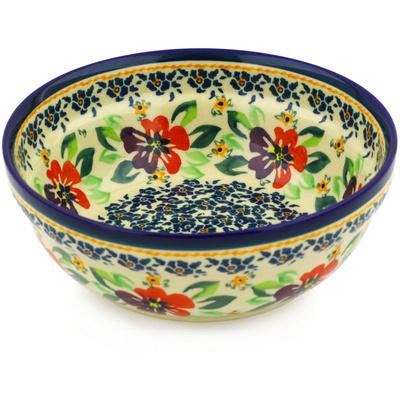 Polish Pottery 7-inch Bowl | Boleslawiec Stoneware | Polmedia H9647F