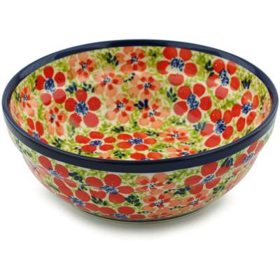 Polish Pottery 7-inch Bowl | Boleslawiec Stoneware | Polmedia H4284I