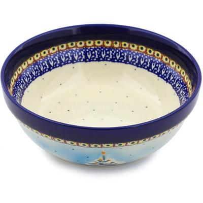 Polish Pottery 7-inch Bowl | Boleslawiec Stoneware | Polmedia H6019I