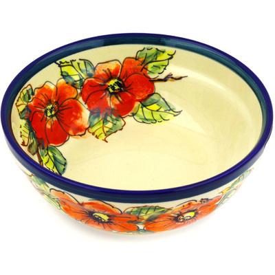Polish Pottery 7-inch Bowl | Boleslawiec Stoneware | Polmedia H9206D