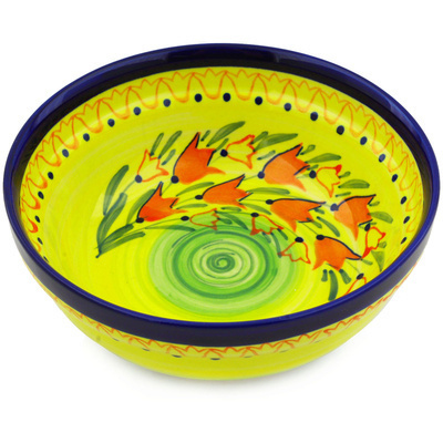 Polish Pottery 7-inch Bowl | Boleslawiec Stoneware | Polmedia H4467E