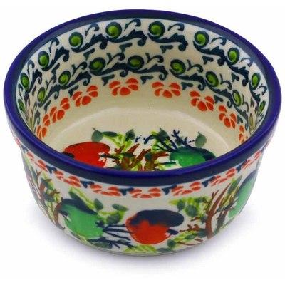 Polish Pottery 4-inch Bowl | Boleslawiec Stoneware | Polmedia H8048I