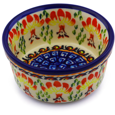 Polish Pottery 4-inch Bowl   Boleslawiec Stoneware   Polmedia H8049I