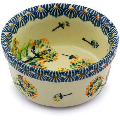 Polish Pottery 4-inch Bowl   Boleslawiec Stoneware   Polmedia H8050I