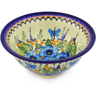 Polish Pottery 8-inch Bowl | Boleslawiec Stoneware | Polmedia H8568E