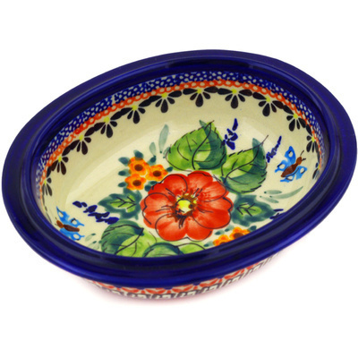 Polish Pottery 6-inch Bowl | Boleslawiec Stoneware | Polmedia H1416E
