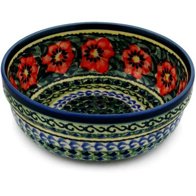 Polish Pottery 6-inch Bowl | Boleslawiec Stoneware | Polmedia H6215C