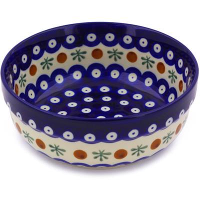 Polish Pottery 6-inch Bowl   Boleslawiec Stoneware   Polmedia H7550A
