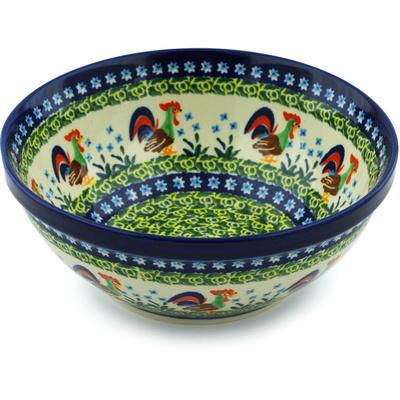 Polish Pottery 8-inch Bowl | Boleslawiec Stoneware | Polmedia H8486H