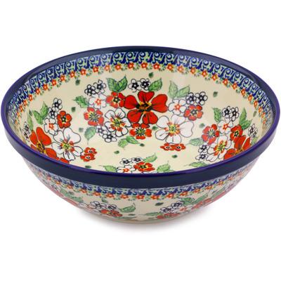 Polish Pottery 9-inch Bowl | Boleslawiec Stoneware | Polmedia H4339I