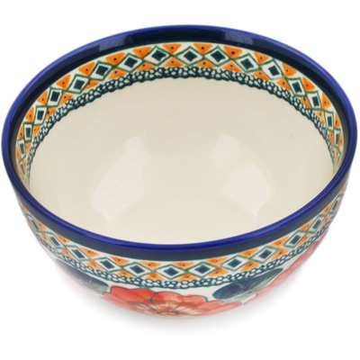 Polish Pottery 5-inch Bowl | Boleslawiec Stoneware | Polmedia H0816B