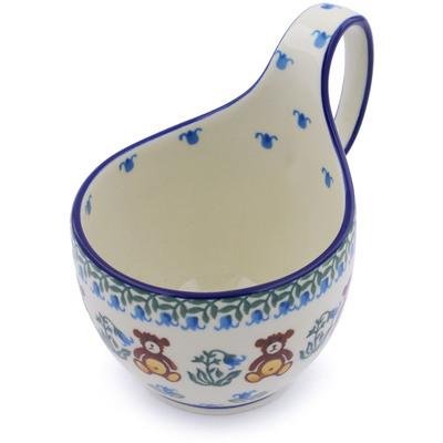 Polish Pottery 6-inch Bowl with Handles | Boleslawiec Stoneware | Polmedia H2614I